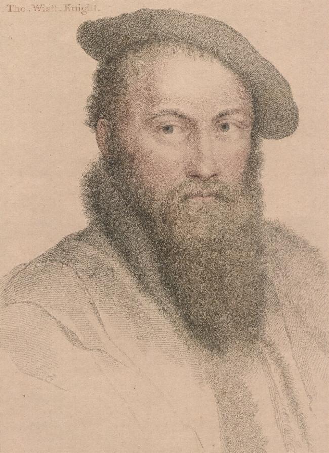 Retrato de Wyatt por Hans Holbein