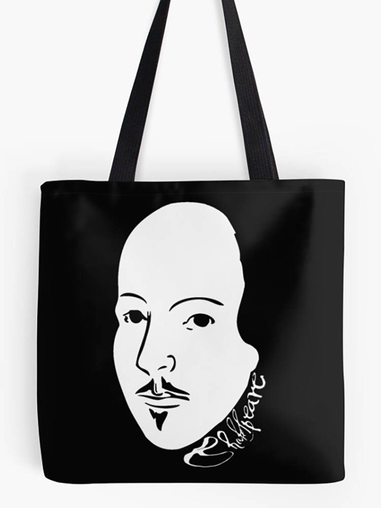 Black & White Shakespeare With Signature Tote Bag