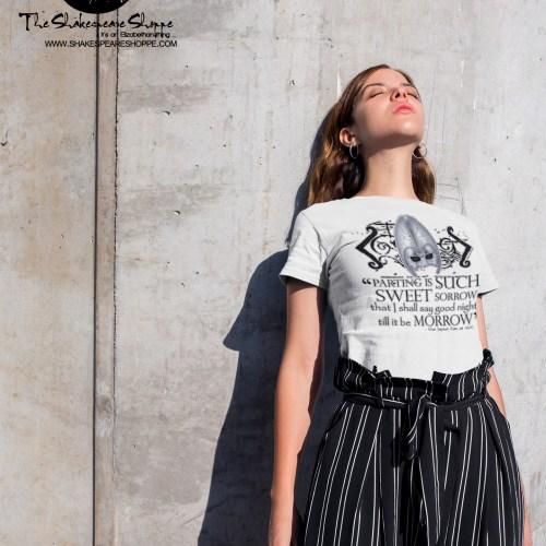 Shakespeare Romeo & Juliet Sweet Sorrow Quote T-Shirt