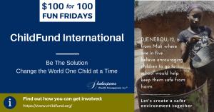 Child Fund International 100 Fun Fridays