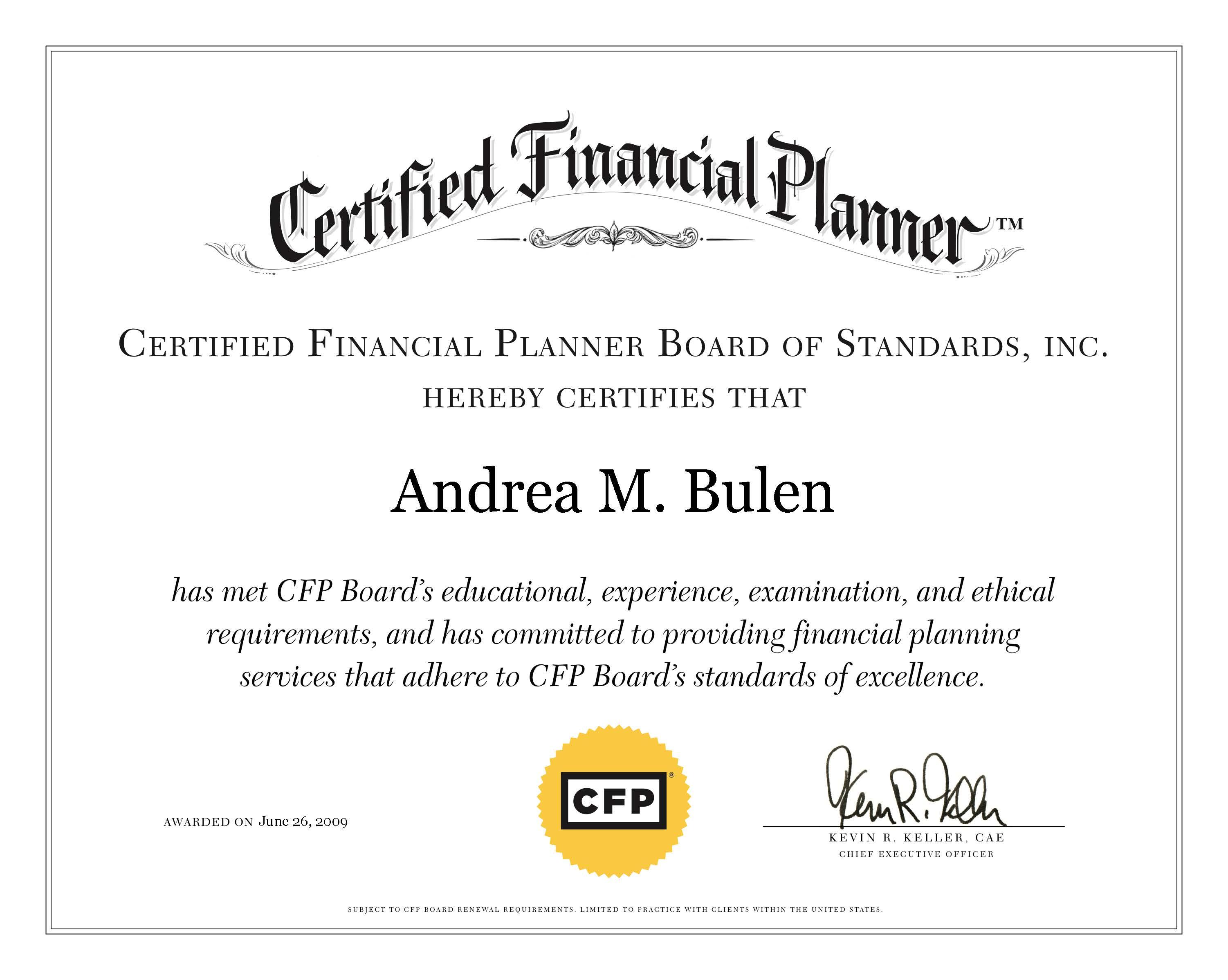 AB CFP Certificate