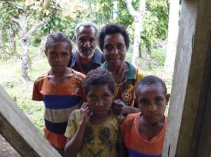 Close friends from Uria Village, Lim Auwi and his family.