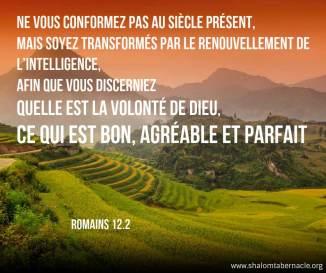 Romain 12 v 2 La sainte Bible