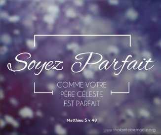 Soyez parfait comme votre père céleste !