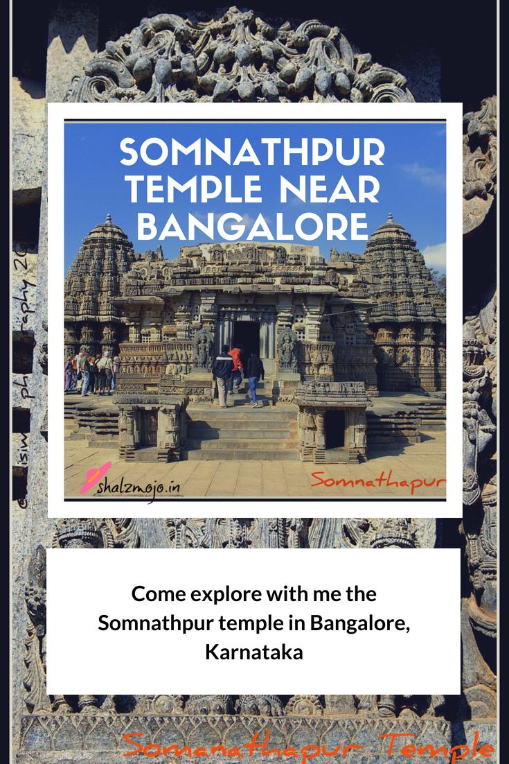 Somnathpur temple near Bangalore in South India rock carvings sculptures deity worship monument ASI tourist travel destination wanderlust historical architecture