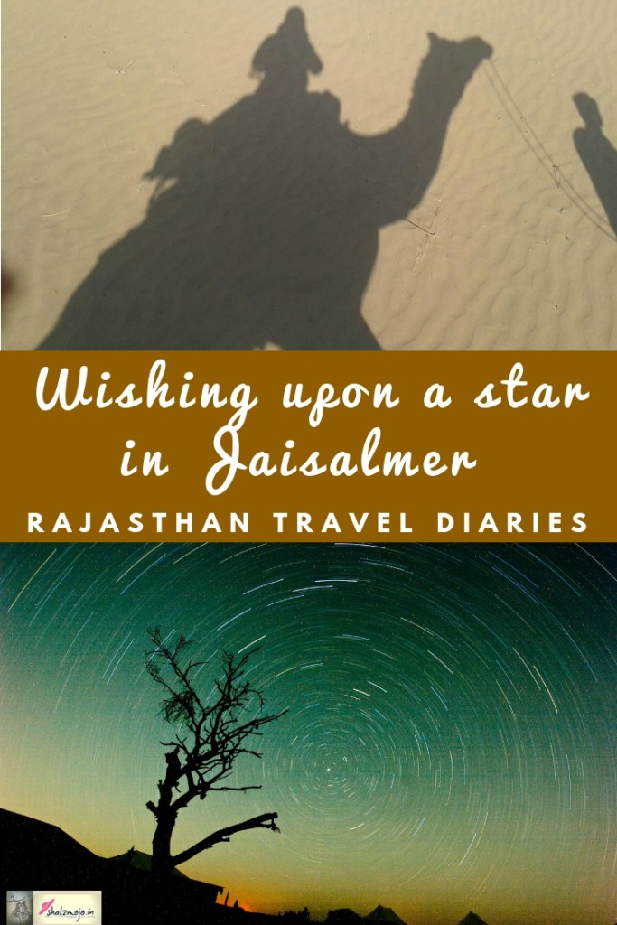 star trails in Jaisalmer desert in Rajasthan India - travel - hotel-hospitality-holiday