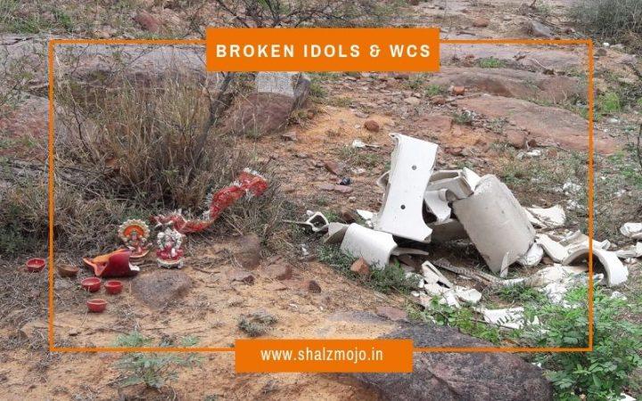 trashing- garbage - gurgaon- suncity - pahadi - keekar- Aravali forest