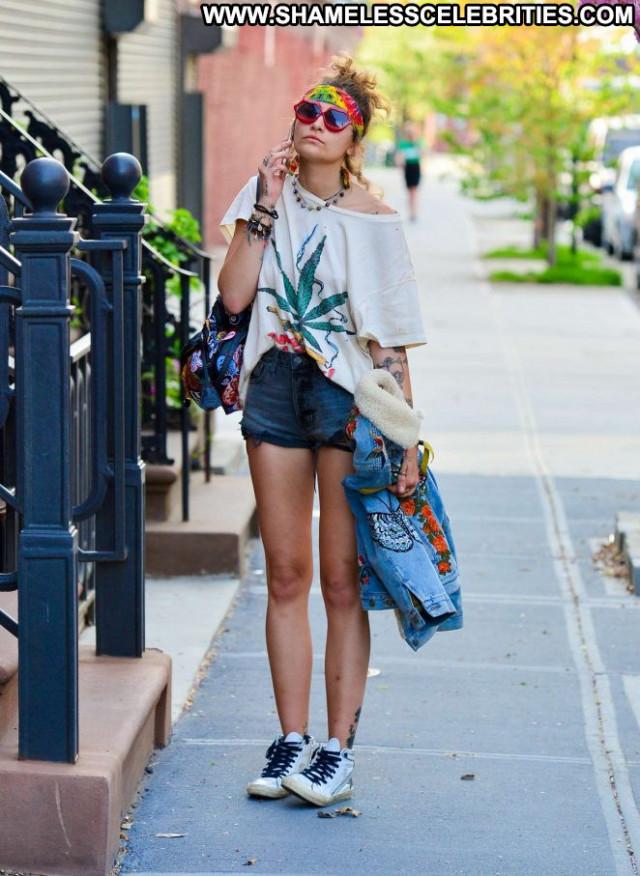 Paris Jackson New York Beautiful Celebrity Shorts New York Posing Hot