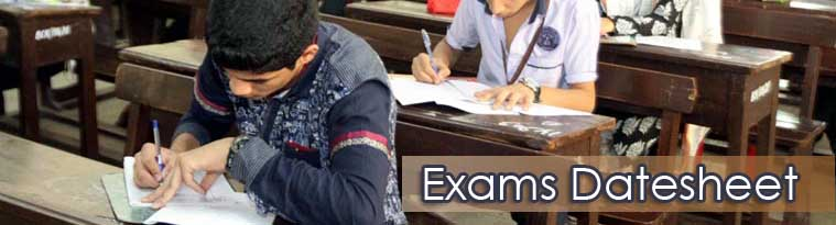 School Exams Datesheet