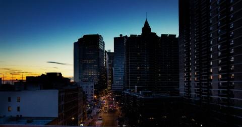 Sunset over New-York City