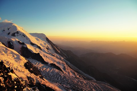 Sunset from Refuge des cosmiques / Mont blanc