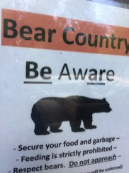 Beware of Bear Country