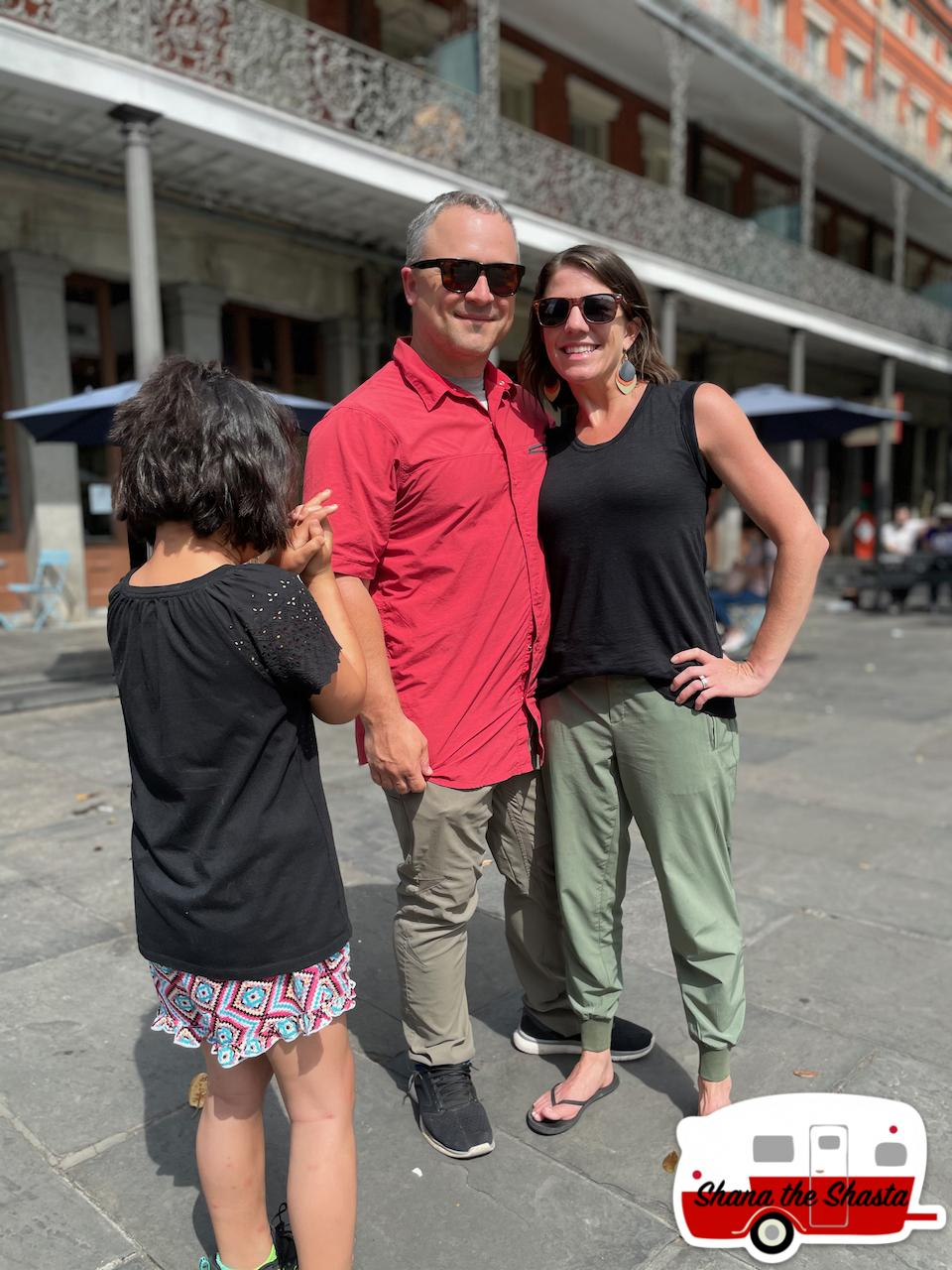 Couple-in-love-at-square-in-New-Orleans