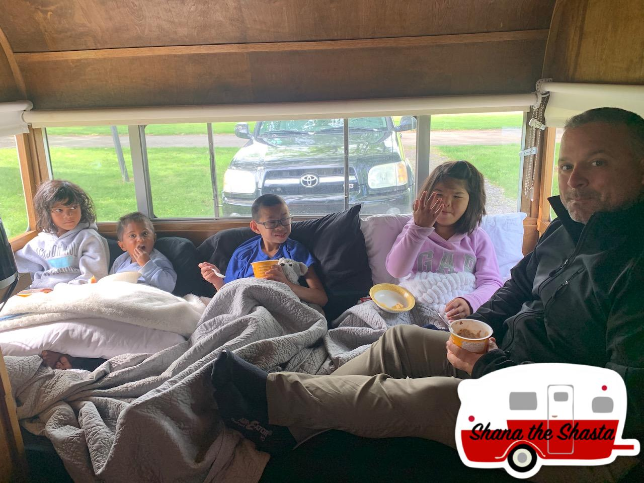 Family-Breakfast-Vintage-Camper