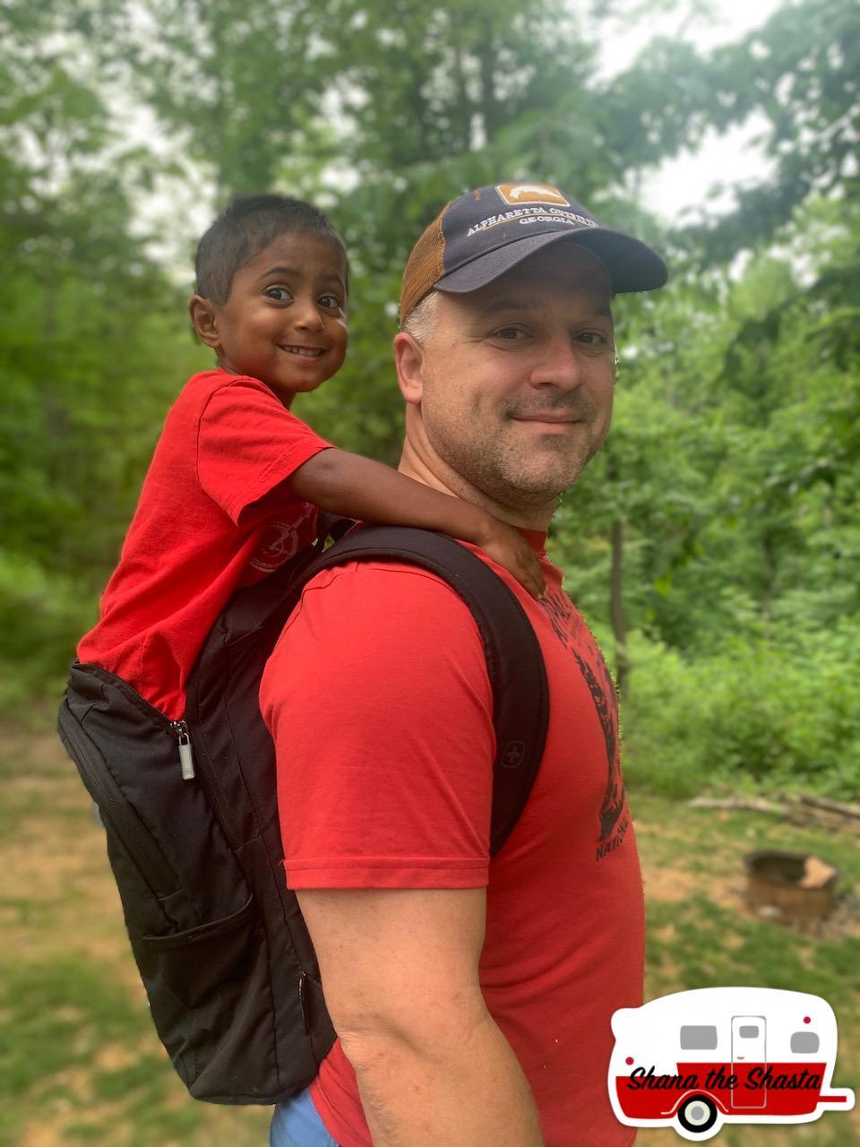 Improvised-Hiking-Backpack-Carrier