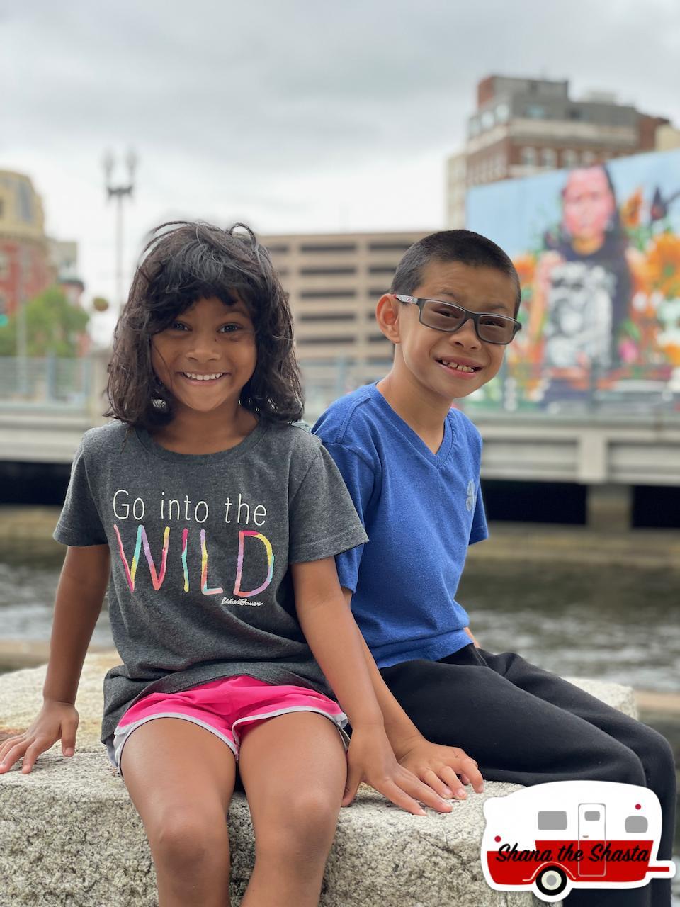 Kids-at-Woonasquatucket-River