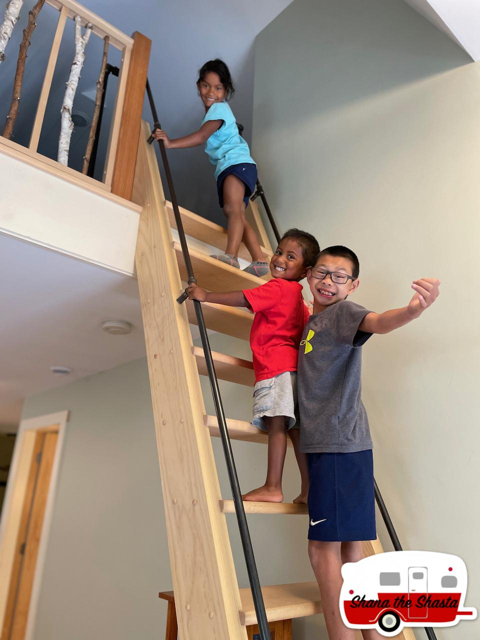 Stairs-to-Hadley-Point-Hideaway-Loft