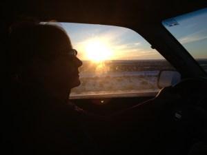 Stormy driving near Granger Wyoming