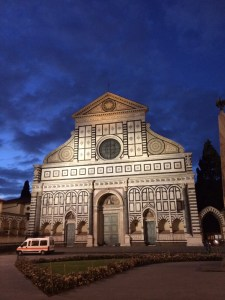 Santa Maria Novella shines brightly after the storm tonight.