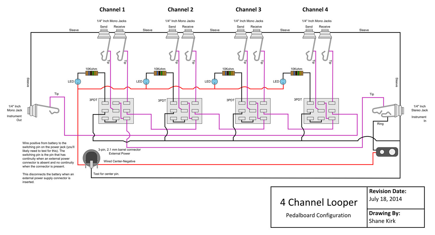 adfa08 looper guitar pedal wiring diagram | wiring resources  wiring resources