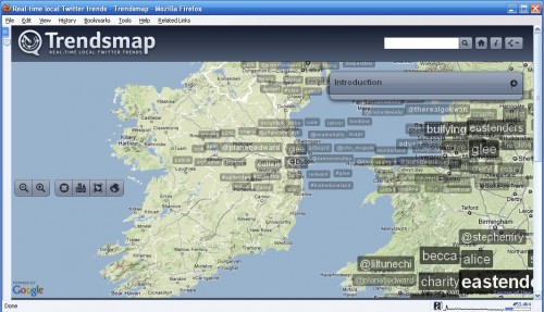 Trendsmap – A Real Time Local Twitter Trend Tracker