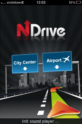 NDrive iPhone App - Sat Nav App