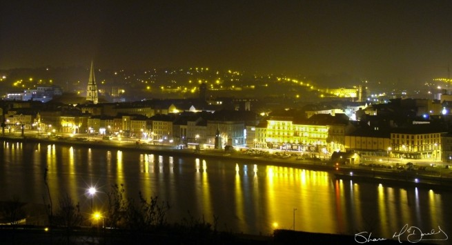 Waterford City by Night taken from Ardree Hotel Waterford in 2005 winner of Imagine Arts Festival Photo Competition