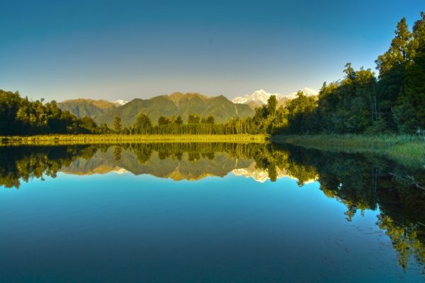 Lake Matheson at Fox Glacier Updated as HDR to recover details