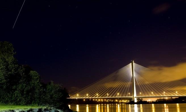 International Space Station Over Waterford Bridge - ISS Waterford Bridge Photo