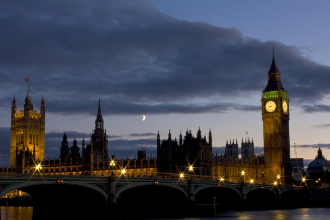 Moon Setting behind Westminster House
