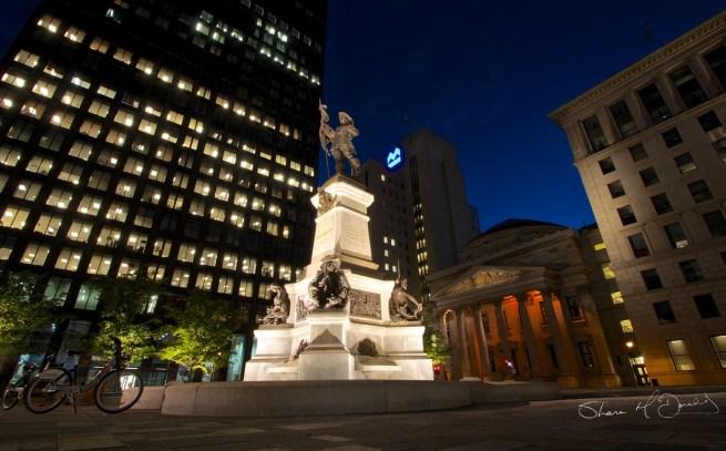 Place d'Armes Maisonneuve Monument, Old Montreal, Montreal, Canada - Place D'Armes photo, Montreal