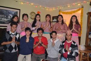 The COSL team celebrating Tihar together