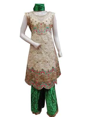 Kids Fancy Frock With Sharara