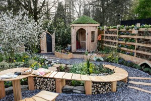 Photo of Nurture in Nature show garden from RHS Flower Show Cardiff 2015