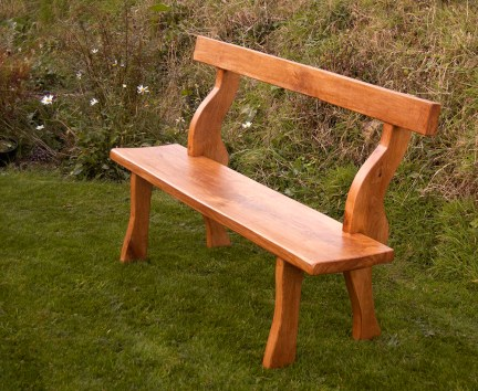 Garden Furniture - Muliebral Welsh Bench in oak