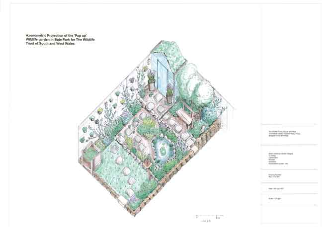 Axonometric colour design, wildlife trust