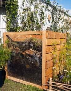 compost heap, wildlife garden, Bute Park Cardiff, My Wild Garden, Wildlife Trust