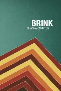 Cover of Brink with multistriped pyramid on green background, white title and author name.
