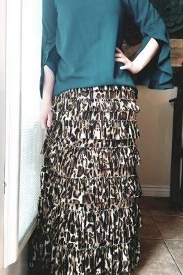 Leopard Ruffle Eleganza Skirt