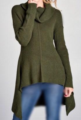 Sharkbite turtleneck sweater olive