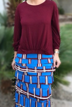 pleated elegance skirt ~ Blue Plaids