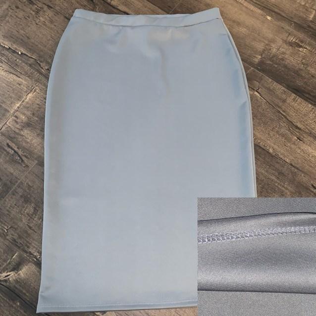 Silver gray pencil skirt