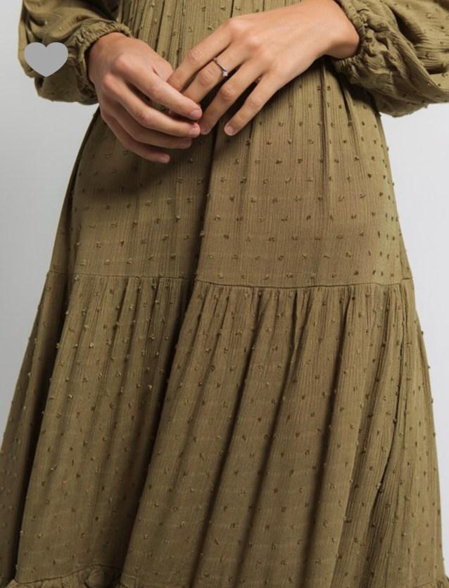 olive green long maxi dress