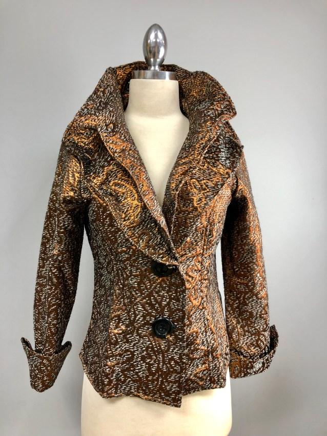 Bronze silver wired collar jacket