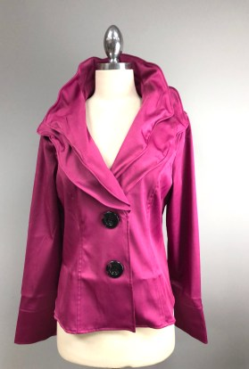 Purple wired collar jacket