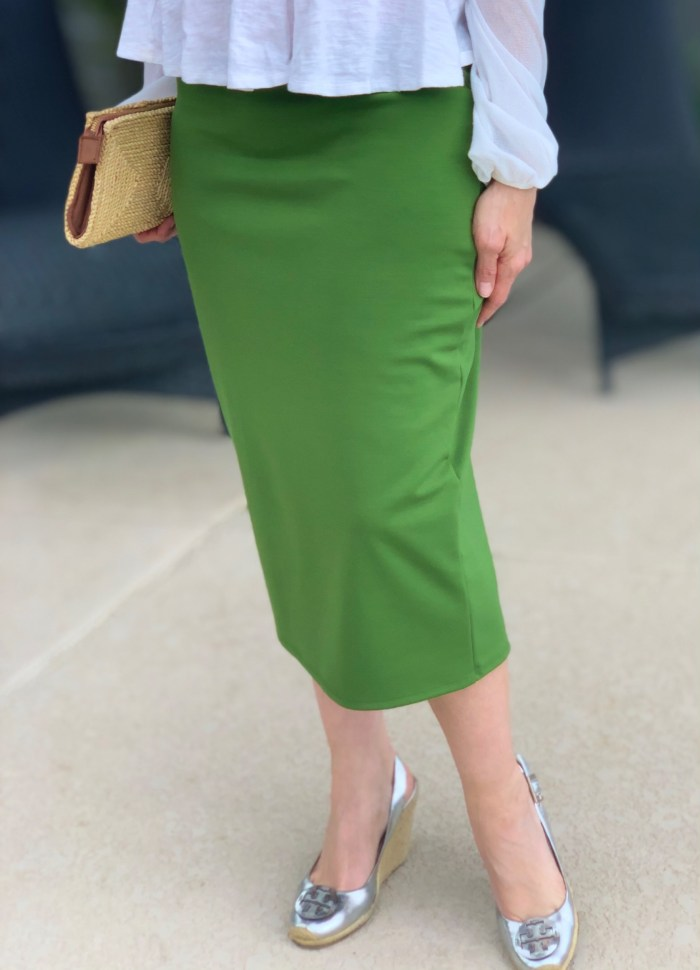 Pepper stem modest pencil skirt