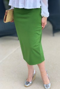 Pepper stem modest pencil skirt