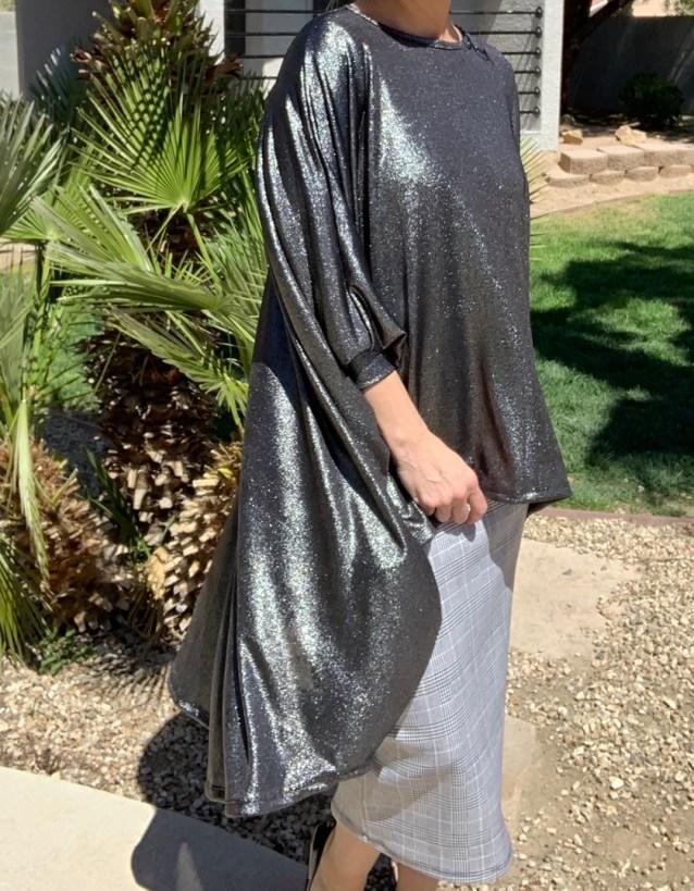 Black silver shimmer cardigan