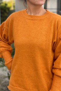 Pumpkin Sweater dropped sleeves