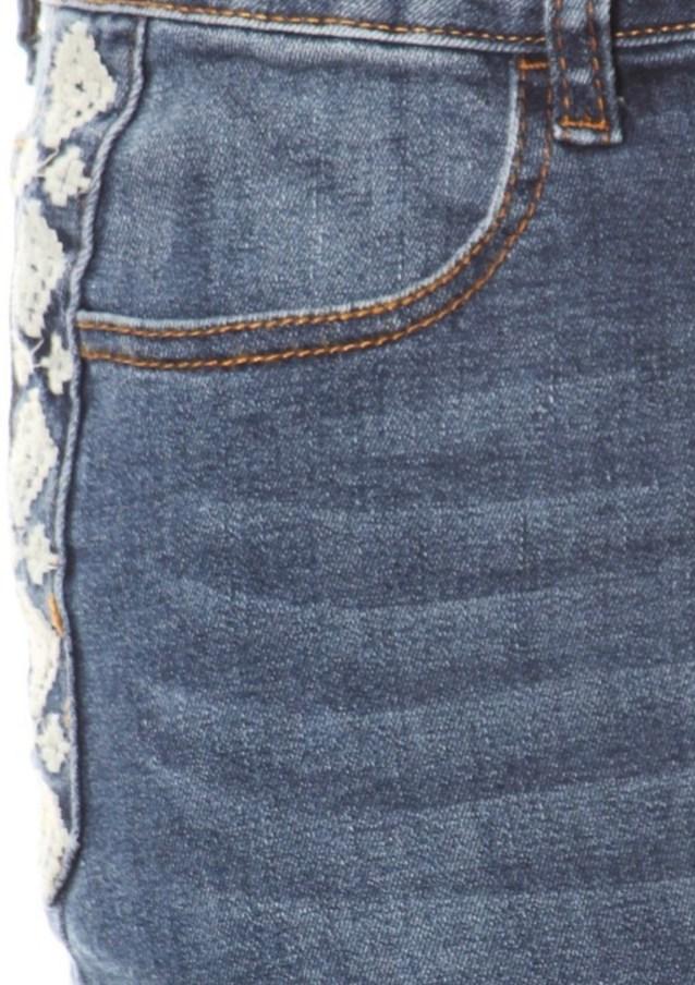 Indigo Blue Stretch Denim Skirt